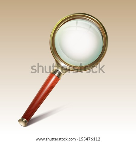 Magnifying glass. Search icon - stock vector