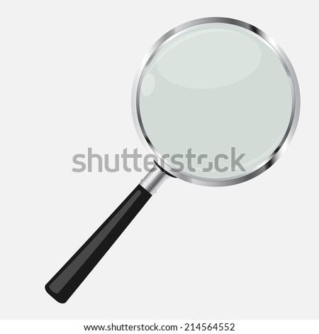 Magnifying Glass Search Icon Vector Illustration - stock vector