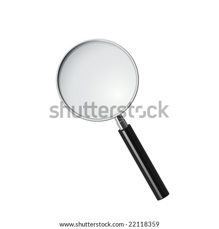 Magnifying glass, vector - stock vector