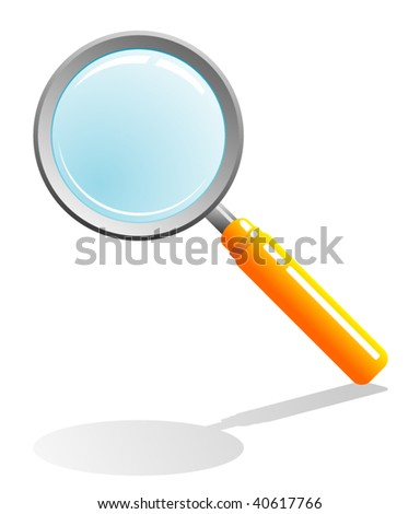 magnifying glass vector - stock vector