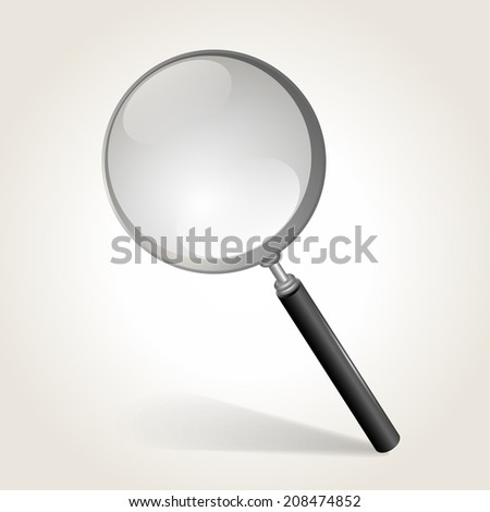 Magnifying glass, vector illustration - stock vector