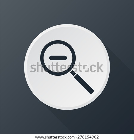 magnifying glass zoom icon - stock vector
