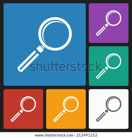 magnifying icon - stock vector