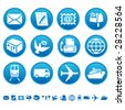 Mail and transportation icons - stock vector