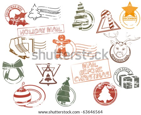 Vintage Christmas Stamp Stock Images Royalty Free Images