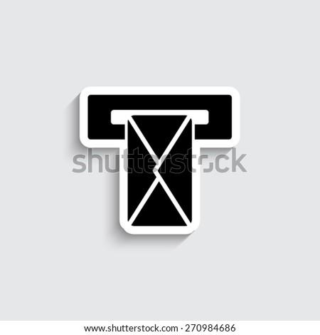 Mail box - vector icon - stock vector