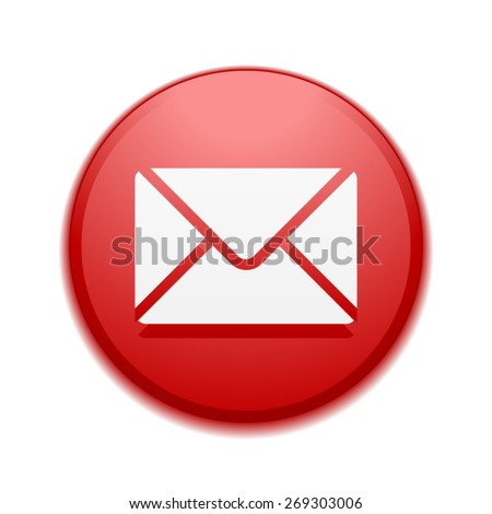 Mail button - stock vector