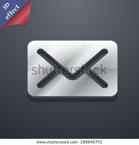 Mail, envelope, letter icon symbol. 3D style. Trendy, modern design with space for your text Vector illustration - stock vector