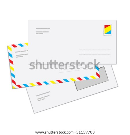 Mail Envelopes (vector). In the gallery also available XXL jpeg version of this image. - stock vector