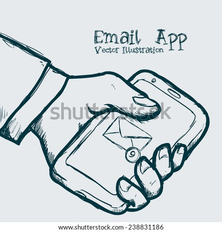 mail icon design, vector illustration eps10 graphic