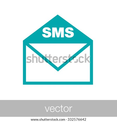 mail icon. envelope icon. Concept flat style design illustration icon. - stock vector