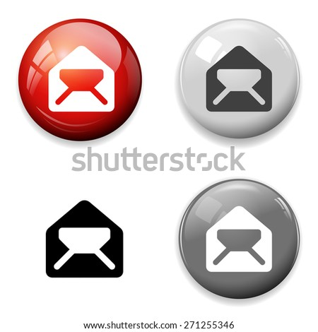 Mail icon. Envelope symbol. Message button - stock vector