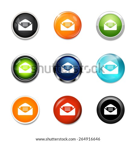 Mail icon. Envelope symbol. Message sign. Mail button - stock vector