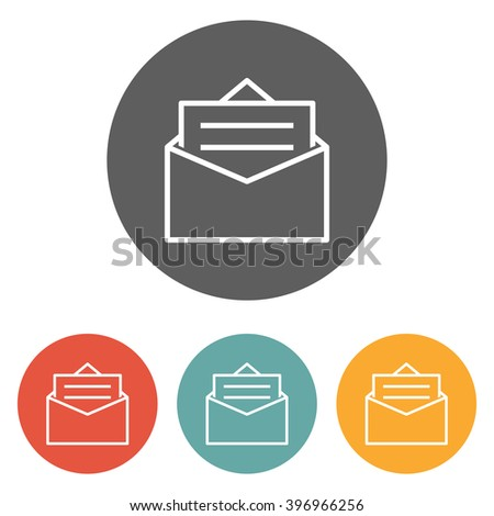 mail icon , post icon , email icon - stock vector