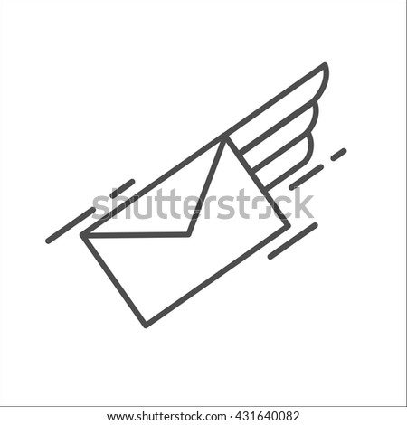 Mail. Letter. E-mail. Airmail. Vector icon. - stock vector