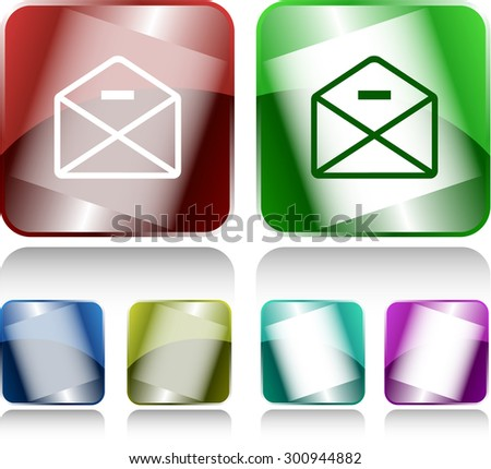 mail minus. Internet buttons. Vector illustration. - stock vector