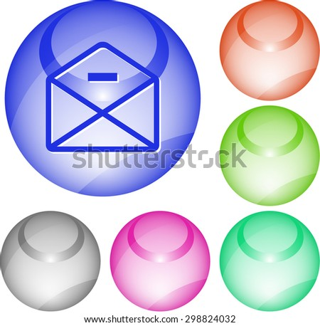 mail minus. Vector interface element. - stock vector