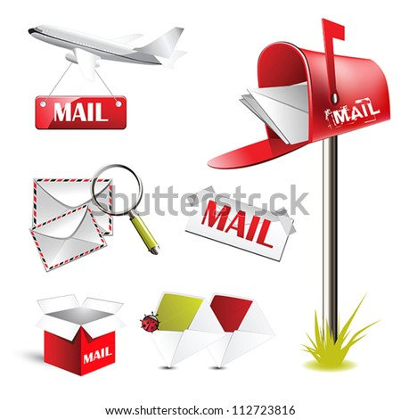 mail post - stock vector