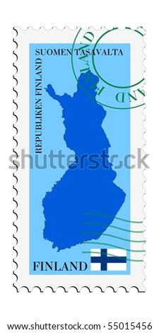 mail to/from Finland - stock vector