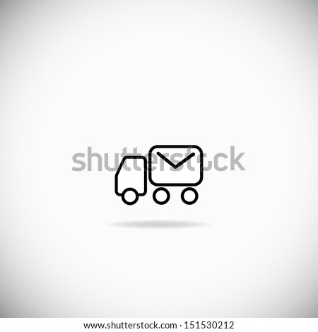 Mail truck - stock vector