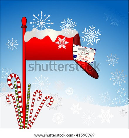 mailbox with letter to santa 2  0f 3