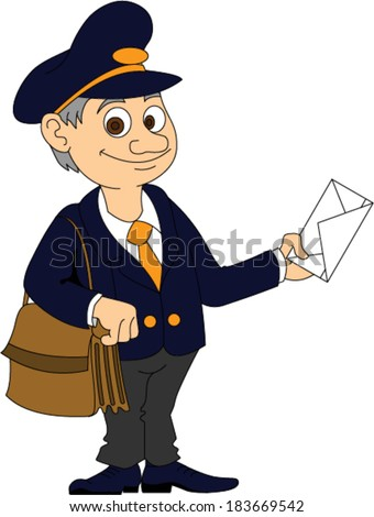 Mailman - stock vector