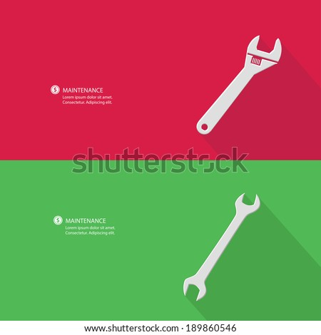 Maintenance and blank for text,vector - stock vector