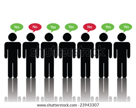 Majority Agrees (JPG file version available in my portfolio) - stock vector