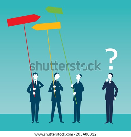 Make Better Decisions - stock vector