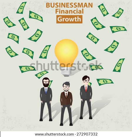 Make money,businessman concept design on old background,clean vector - stock vector