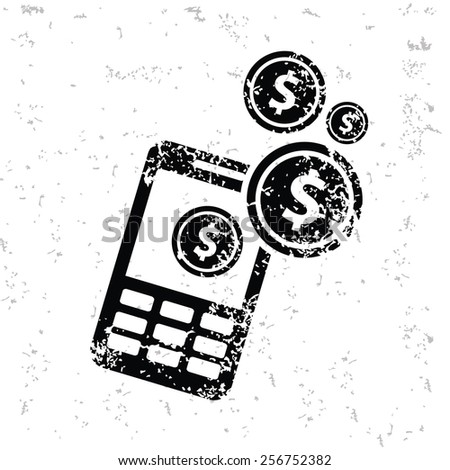 Make money design on old paper,grunge vector - stock vector