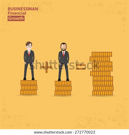 Make money design on yellow background, clean vector.