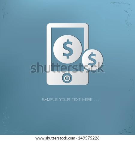 Make money symbol,vector - stock vector