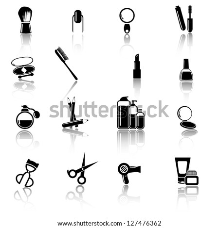 Make up and beauty icons - stock vector