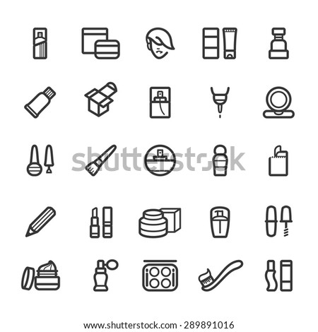 Make up and cosmetic icons - stock vector