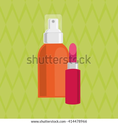 Make up design. cosmetic icon. skin care concept, vector illustration