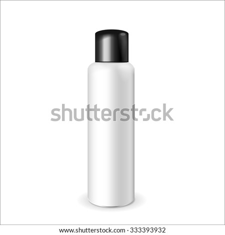 Make up. Tube of cream or gel white plastic product.  Container, product and packaging. White background. - stock vector