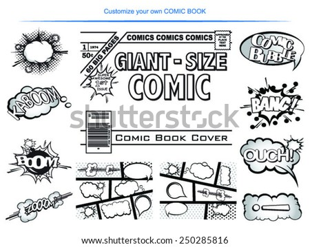 Make your own COMIC BOOK! - stock vector