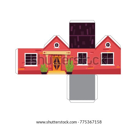 Make Your Own Toy House Paper Stock Vector 775367158