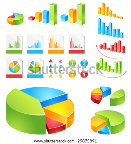 make your reports or presentations more illustrative - stock vector