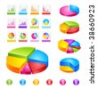 make your reports or presentations more illustrative ( new forms and coloures) - stock photo
