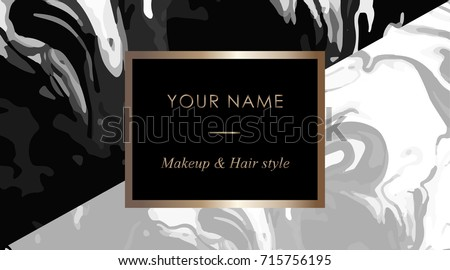 Makeup artist hair stylist business card stock vector 715756195 makeup artist and hair stylist business card template elegant vector template business cards with black cheaphphosting Image collections