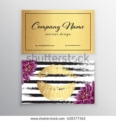 Makeup artist business card business cards stock photo photo makeup artist business card business cards template with pink lips print design templates for friedricerecipe Gallery