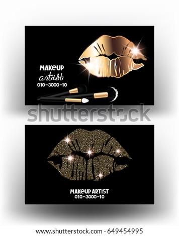Makeup artist business cards womans lips stock vector 2018 makeup artist business cards womans lips stock vector 2018 649454995 shutterstock reheart Gallery