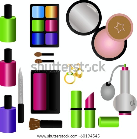 Makeup/Cosmetics Collection - stock vector