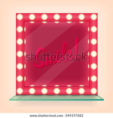 Makeup mirror - stock vector