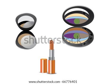 Makeup set - stock vector