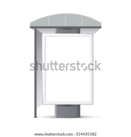 Making stops advertising banners, a booth at the exhibition - stock vector
