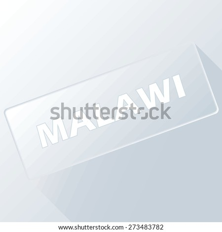 Malawi unique button for any design. Vector illustration