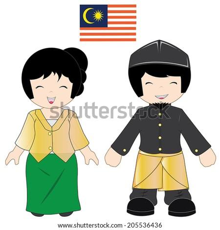 Malaysian People Clipart Malaysia People Stock ...